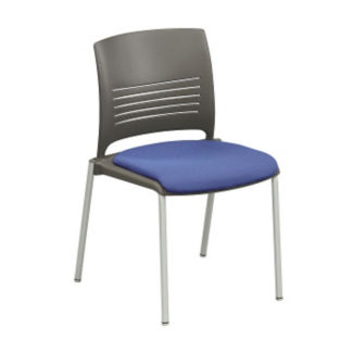 Cafe Stack Chair with Fabric Seat, K00032