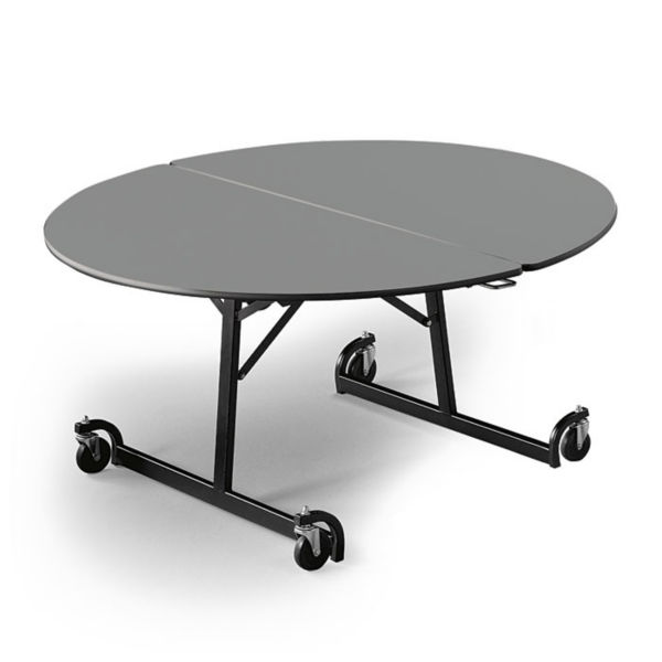 60 round folding cafeteria table with t-leg - t11581 and more products