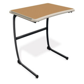"Single Desk 30""H-Laminate Top, T60026"