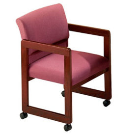 Full Back Guest Chair with Casters, C90027