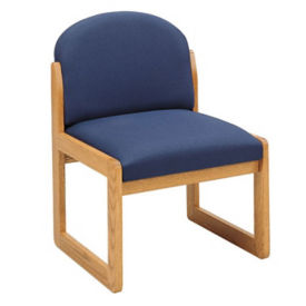 Fabric Armless Guest Chair, W60271