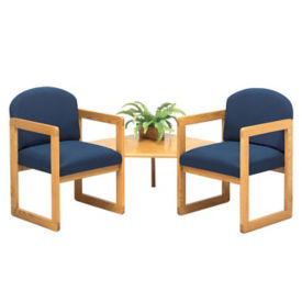 Fabric 2 Chairs with Corner Table, W60275