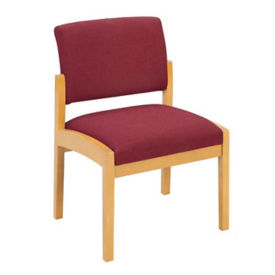 Fabric Armless Guest Chair, W60284