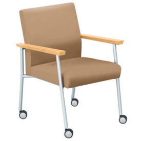 Uptown Guest Arm Chair with Casters, W60474