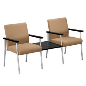 Uptown Two Seater with Center Connecting Table, W60484