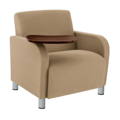 Compare Oversized Vinyl Lounge Chair With Tablet Arm, W60707