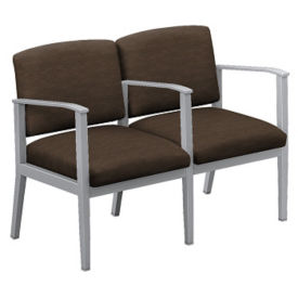 Fabric Two Seat Sofa With Center Arm, W60834