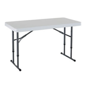 "Adjustable Height Folding Table - 24"" x 48"", T11689"