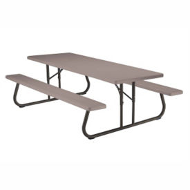 Foldable 8 ft Plastic Picnic Table, F10266