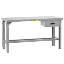 "Adjustable Height Table with Drawer - 60""W x 30""D, A11224"