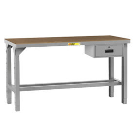 "Adjustable Height Hardboard Top Table with Drawer - 48""W x 24""D, A11231"