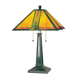 Table Lamp with Tiffany Glass Shade, V21074