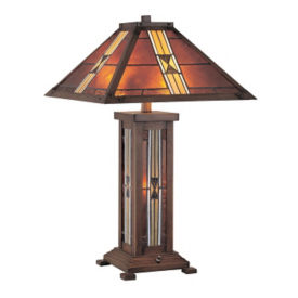 "Table Lamp Glass Shade 26""H, V21118"