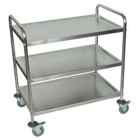 "Three Shelf Stainless Steel Cart - 21"" x 33-1/2"", B34481"