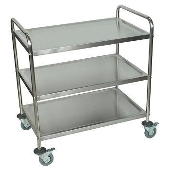 Three Shelf Stainless Steel Cart - 21\