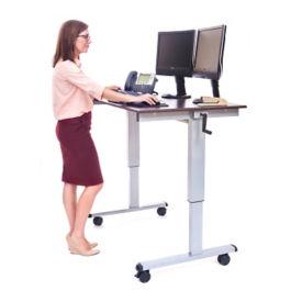 "Manual Height Adjustable Mobile  Desk - 48""W, D30261"