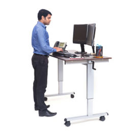 "Manual Height Adjustable Mobile  Desk - 60""W, D30262"