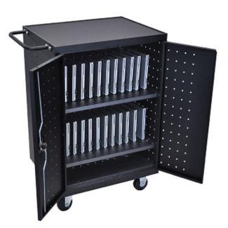 Lockable 24 Tablet Charging Cart, M10027
