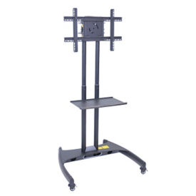 "Mobile Flat Panel TV Mount with Shelf - 62-1/2"" H, M10377"