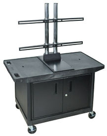 "Flat Panel Cart with Cabinet - 27""H, M13144"