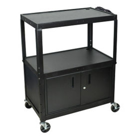 Adjustable Height AV Cart with Lower Storage Cabinet, M16315