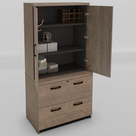 "Wardrobe with Lateral File - 36""W, B30665"