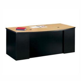 Bowfront  Desk with 2 Pedestals, D35179