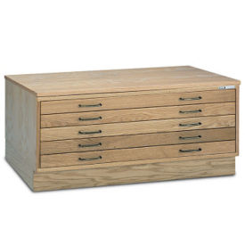 "40""W Five Drawer Wood Plan File , L40821"