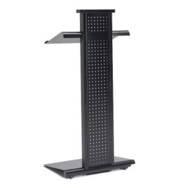 Adjustable Height Lectern with Perforated Panel, M13130