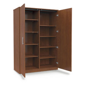 "Divided Mobile Storage Cabinet - 48""W x 24""D, B30631"