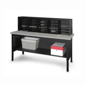 "Mailroom Table with 25 Slot Organizer 60""W, B30256"