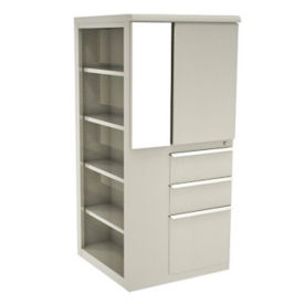 "Left Bookcase Storage Tower - 52"" H, B30271"