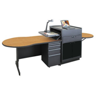 Teachers Media Desk with Acrylic Door, D31180