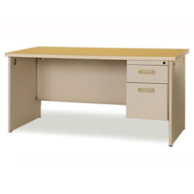"66"" Single Pedestal Desk, D35138"