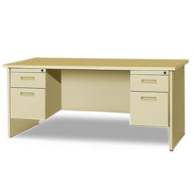 "72"" Double Pedestal Desk, D35137"