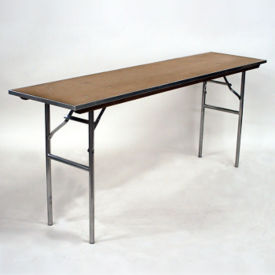 """Plywood Folding Table - 18""""Dx72""""W, T10092"""