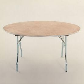 "Round Plywood Folding Table - 48"" Diameter, T10098"