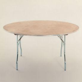 "Round Plywood Folding Table - 60"" Diameter, T10099"