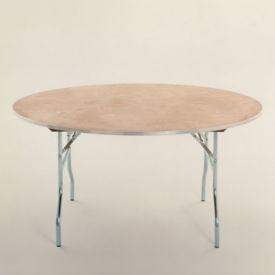 "Round Plywood Folding Table - 72"" Diameter, T10100"