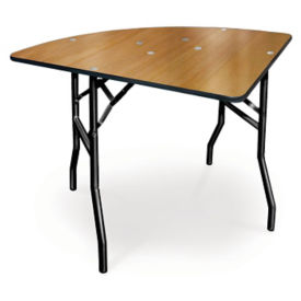 "Plywood Folding Table with Vinyl Bullnose Edging - 36"" Quarter Round, T11630"
