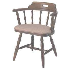 Solid Wood Captains Chair with Vinyl Seat and Full Arms, K00080