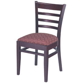 Ladder Back Wood Chair with Vinyl Seat, K00083
