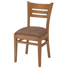 Wood Back Chair with Vinyl Seat, K00084