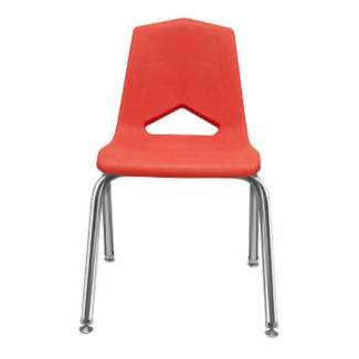 "V Back Student Chair with 10""H Chrome Frame, C70454"
