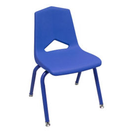 "V Back Student Chair with 10""H Color Frame, C70459"