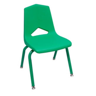 "V Back Student Chair with 12""H Color Frame, C70460"