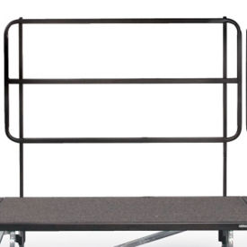 "Backrail for 72"" Mobile Riser, D21227"