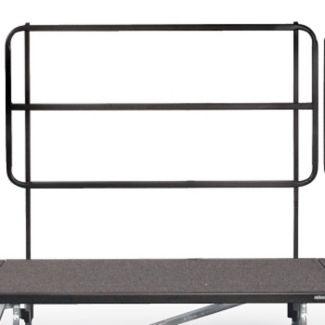 """Backrail for 72"""" Mobile Riser, D21227"""