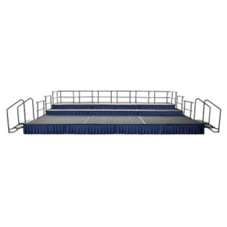 24 ft x 16 ft Portable Stage with 16 Inch - 32 Inch Risers, P60346