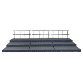24 ft x 12 ft Portable Stage with 8 Inch - 24 Inch Risers, P60345